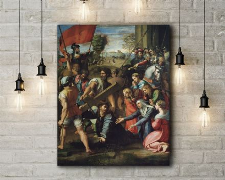 Raphael: Christ Falling on the Way to Calvary. Fine Art Canvas.
